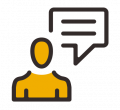 incident complaint reporting icon one